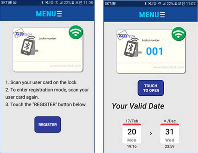Esmart Mobile Rfid Locks Mobile Access Locking System